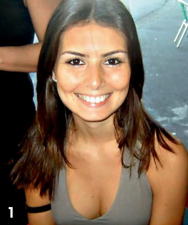 Estagiária do canal SBT, em 2006. (Foto: Arquivo pessoal)