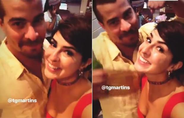 Thiago Martins e Fernanda Paes Leme (Foto: Reprodução)