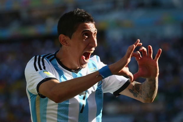 Angel Di Maria celebra seu gol salvador (Foto: Getty Images)