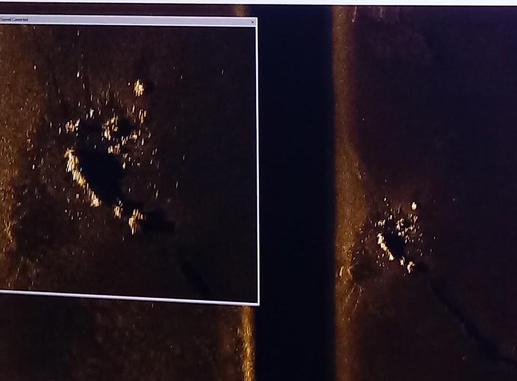 Volume detectado a 800 metros de profundidade pode ser submarino argentino desaparecido — Foto: Armada Argentina/Divulgação