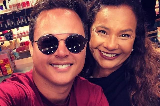 Jamerson Andrade e Solange Couto (Foto: Reprodução)
