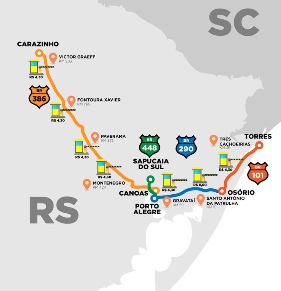 Rodovia Integração do Sul  — Foto: Governo do RS/Divulgação