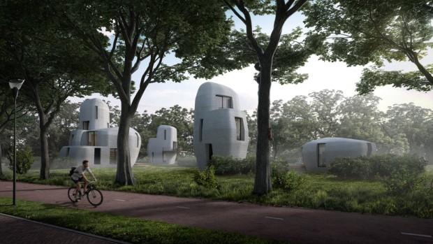 Holanda terá primeiras casas impressas em 3D  (Foto: Divulgação / Houben and Van Mierlo architecten)