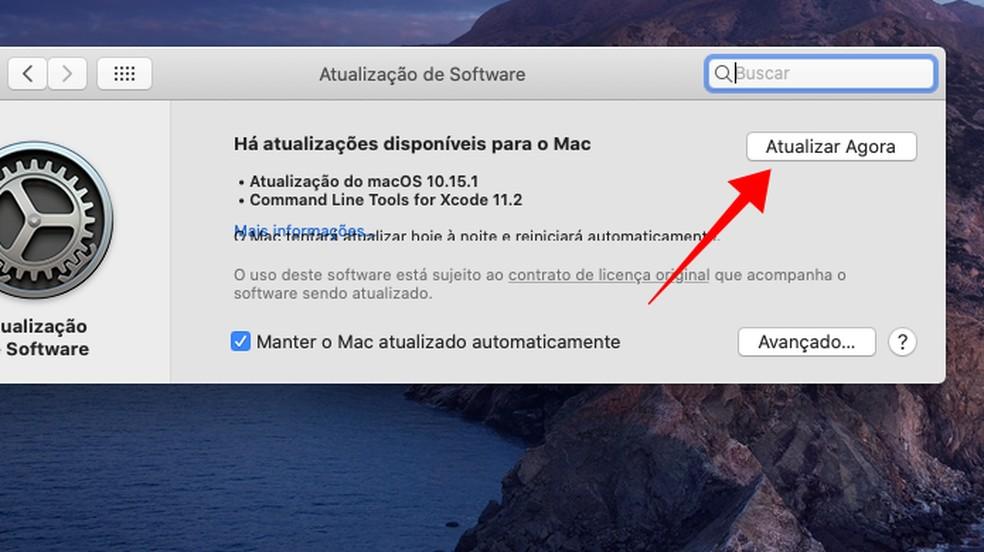 Baixe e instale a última atualização do sistema operacional — Foto: Reprodução/Paulo Alves