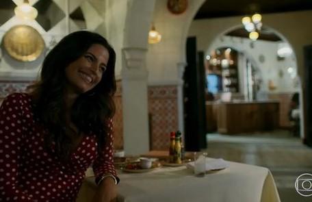 No sábado (11),  Zuleika (Emanuelle Araújo) aceitará se casar com Almeidinha (Danton Mello) Reprodução