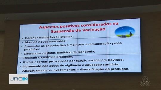 Governo anuncia suspensão da vacinação contra febre aftosa em Rondônia