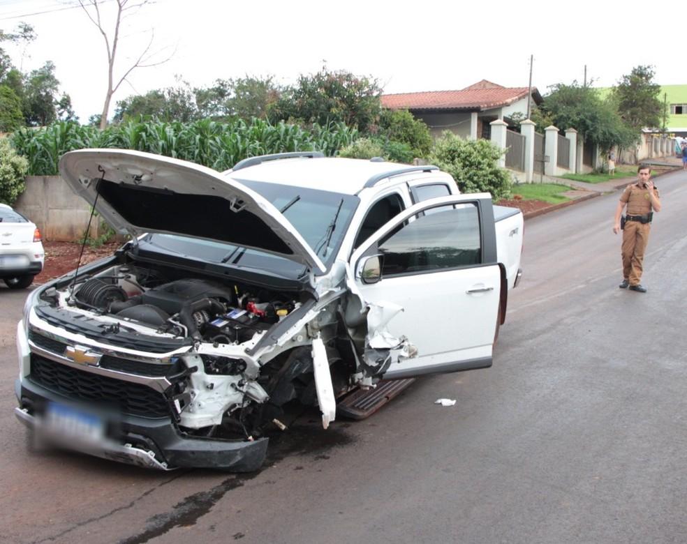 Motorista da caminhonete foi preso por embriaguez ao volante — Foto: Jornal Paraná Centro
