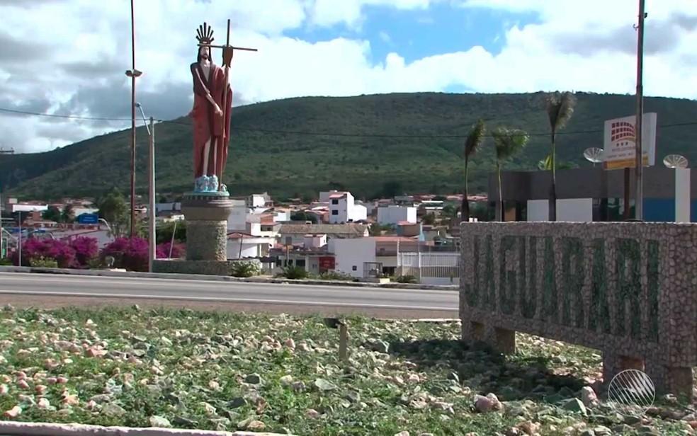 Tremor também foi sentido no distrito de Pilar, que pertence à cidade de Jaguarari — Foto: Imagem/TV São Francisco