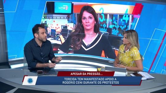 Mesa do SporTV News debate sobre o astral do Palmeiras e Cruzeiro com as mudanças de técnicos