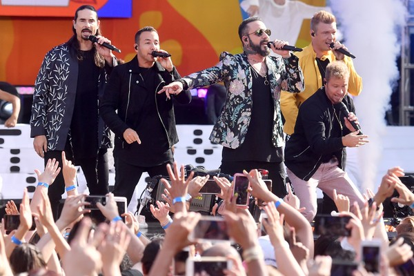 Os músicos do grupo Backstreet Boys (Foto: Getty Images)