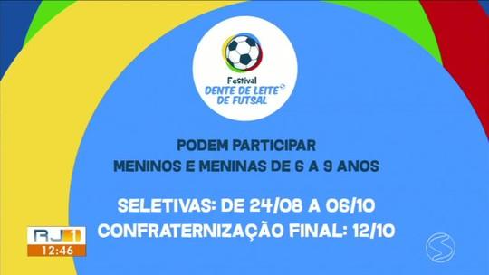 Festival Dente de Leite de Futsal: abertas as inscrições para seletivas de quatro cidades