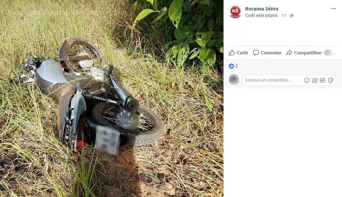 Motociclista morre após bater moto contra árvore na BR-174 em RR