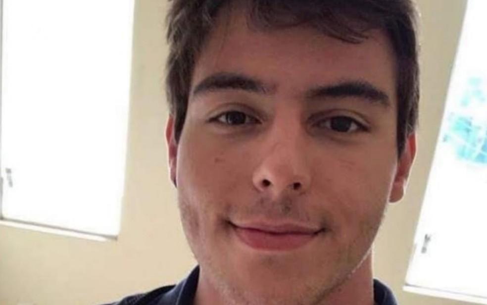 Victor Augusto do Amaral Junqueira foi filmado agredindo namorada em Goiânia — Foto: Reprodução