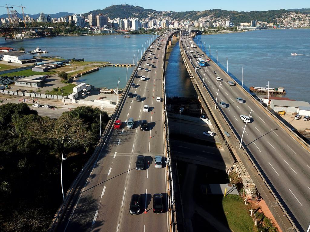 Obras na ponte Colombo Salles, em Florianópolis, acontecerão nesta quarta-feira - Notícias - Plantão Diário