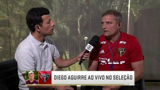 """Pensando jogo a jogo, Aguirre quer manter São Paulo com os pés no chão: """"Eu sei que a torcida está gostando"""""""