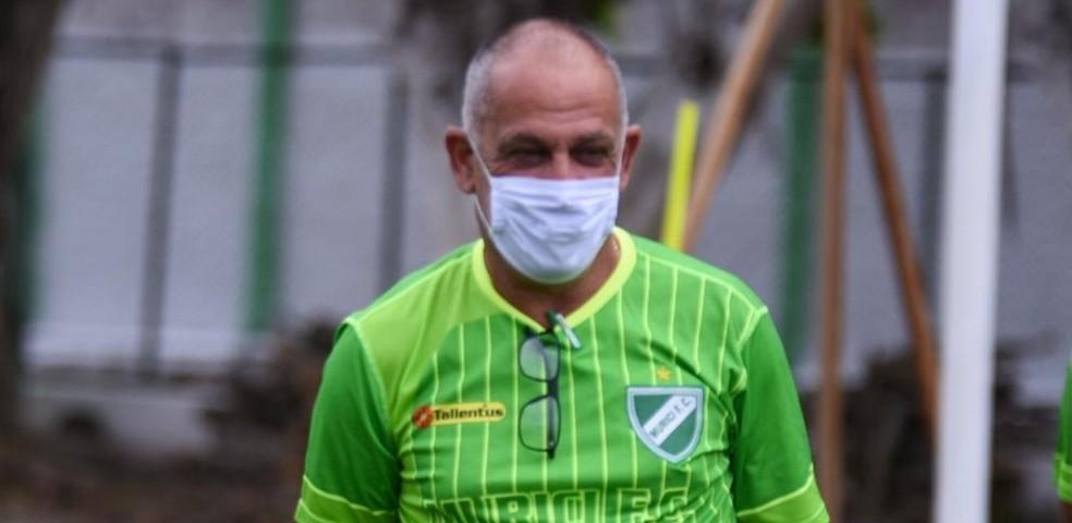 Celso Teixeira, técnico do Murici — Foto: Jailson Colácio/Ascom Murici