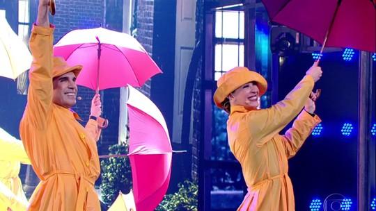 Claudia Raia antecipa número de espetáculo 'Cantando na Chuva' no 'Ding Dong'
