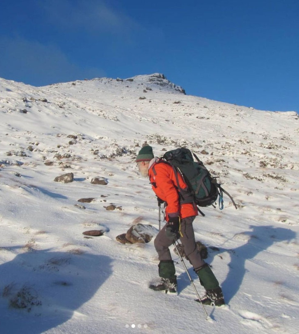 Nick Gardner em uma de suas escaladas, na Escócia — Foto: Reprodução/Instagram/Nick Gardner