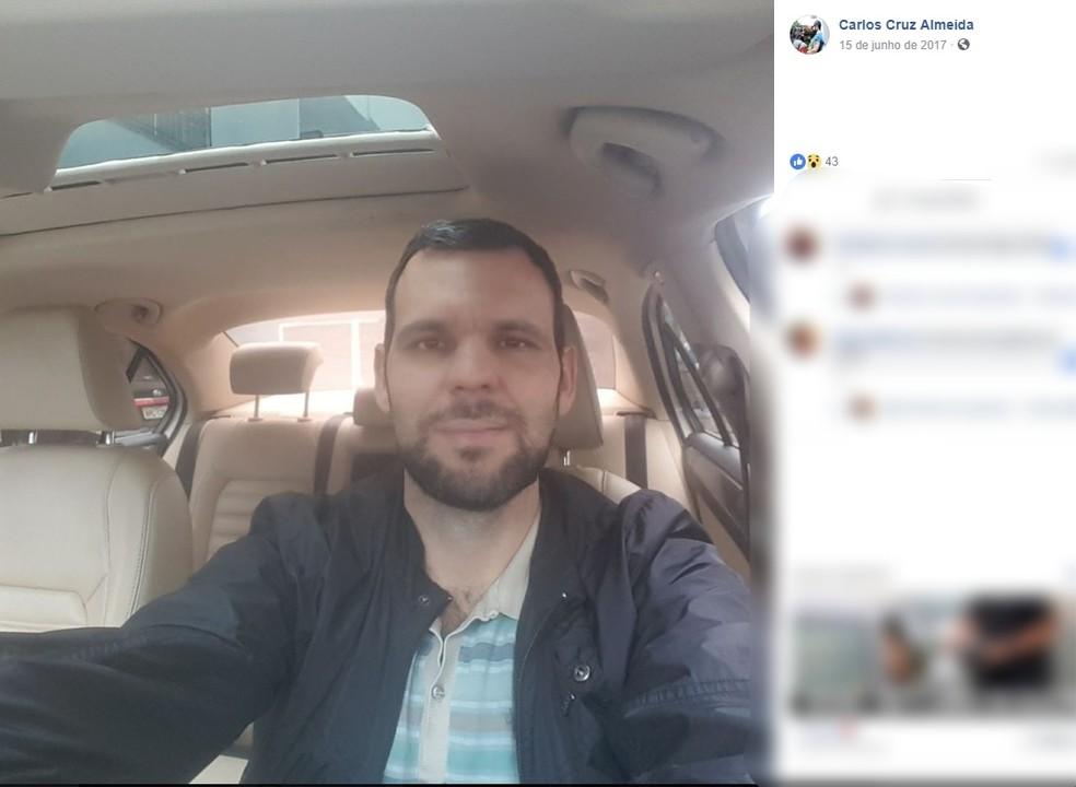Carlos da Cruz Olmedo, de 36 anos, foi alvejado na cabeça (Foto: Facebook/Reprodução)