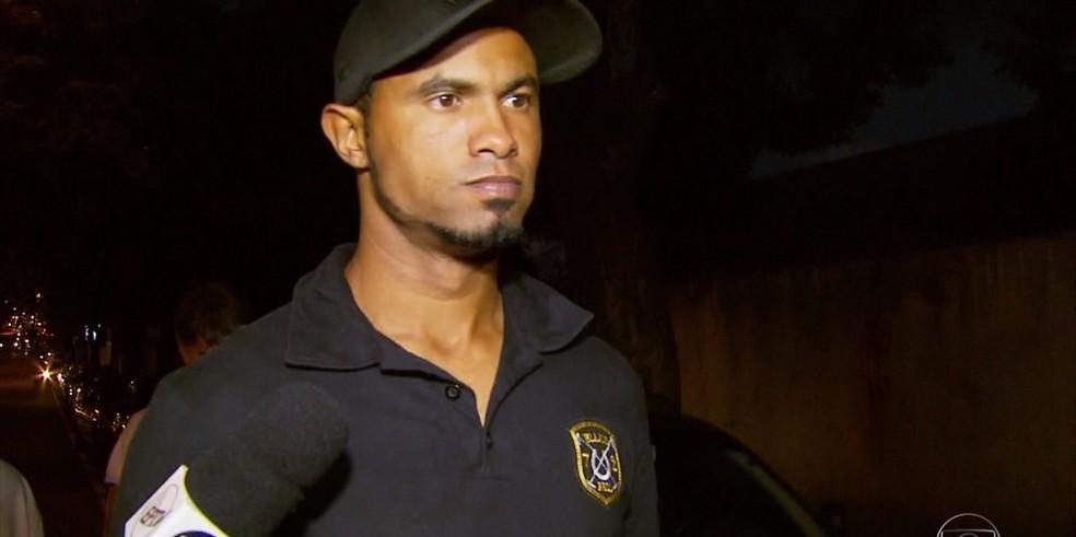 Bruno se apresenta à polícia no Sul de Minas, mas é liberado por falta de mandado — Foto: Reprodução/TV Globo