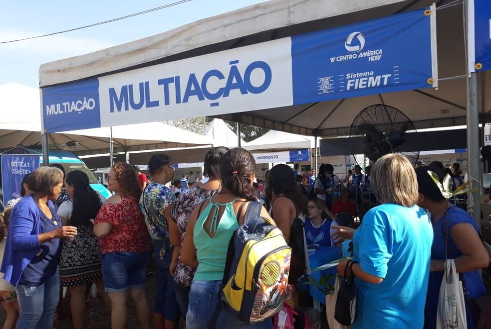 População tem acesso a serviços gratuitos no Multiação (Foto: Gleyce Santos/TVCA)