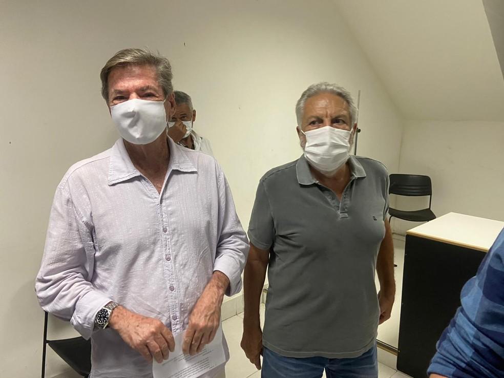 Zé Luis Moreira, atual vice de futebol, acompanhou coletiva de Salgado — Foto: Marcelo Baltar