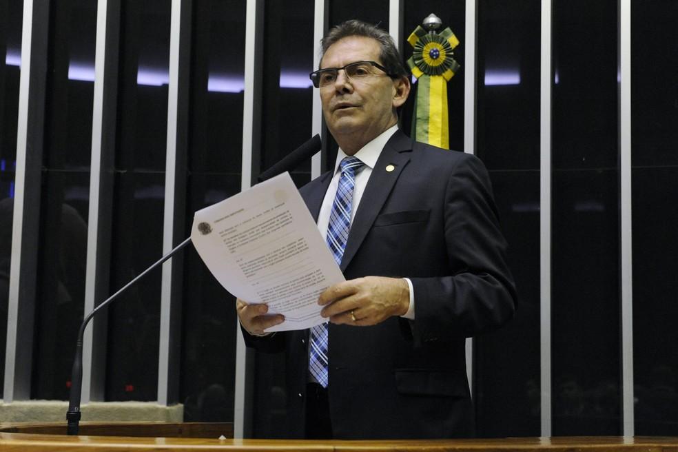 Deputado Paulinho da Força (Solidariedade-SP) durante discurso no plenário da Câmara em 2019 — Foto: Luis Macedo/Câmara dos Deputados