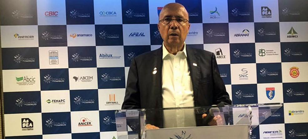 O candidato do MDB à Presidência, Henrique Meirelles (Foto: Fernanda Calgaro, G1)