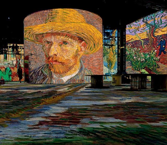 Exposição em museu de arte digital de Paris promove imersão na vida e obra do pintor holandês Van Gogh (Foto: divulgação/ culturespaces)