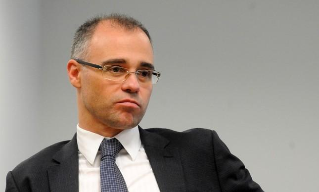 O ex-ministro da AGU, André Mendonça, indicado por Bolsonaro para uma vaga no STF