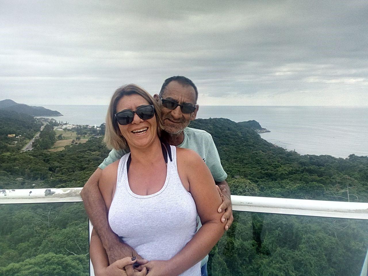 Leila e seu atual marido (Foto: Acervo pessoal)