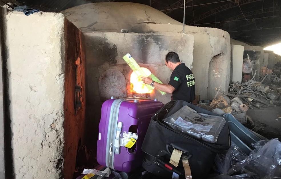 Polícia Federal destrói mais de meia tonelada de drogas no Ceará — Foto: PF/Divulgação