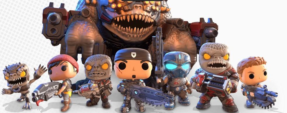 Gears POP utiliza os personagens de Gears of War no formato de bonecos Funko — Foto: Divulgação/Microsoft Studios