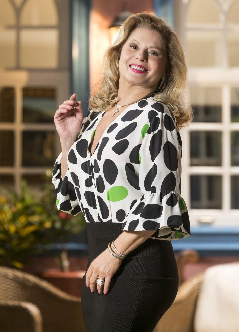 Vera será Carmo, uma atriz de cinema cheia de manias, na novela 'Espelho da Vida' — Foto: Globo