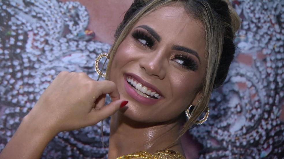 Lexa, rainha de bateria da Unidos da Tijuca — Foto: Reprodução/TV Globo