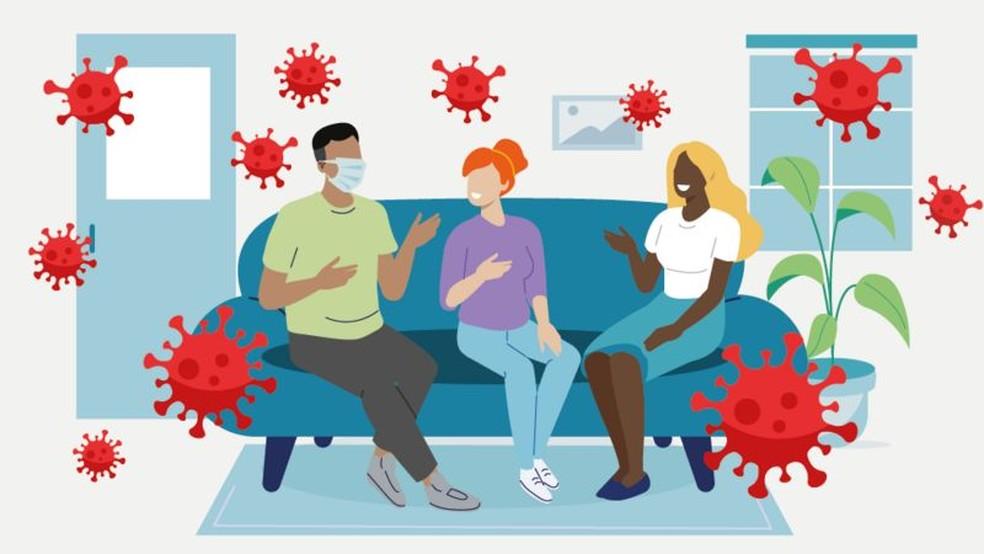 Reunião em família: quando é seguro e como se proteger contra o coronavírus? — Foto: BBC
