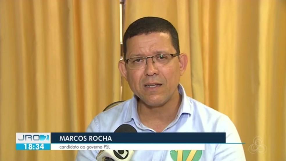 Coronel Marcos Rocha disputa 2° turno do governo de Rondônia — Foto: Reprodução/Rede Amazônica