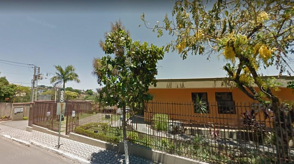 -  Vítima foi atingida por destroços do galpão durante temporal  Foto: Street View Google/Reprodução
