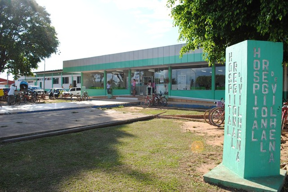 Vítima foi levada ao Hospital Regional de Vilhena com quatro perfurações pelo corpo.  — Foto: Rogério Perucci/G1/Arquivo