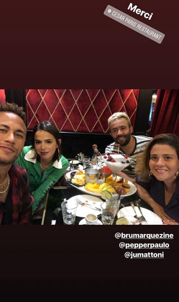 Neymar, Bruna, Paulo e Juliana  (Foto: Reprodução)