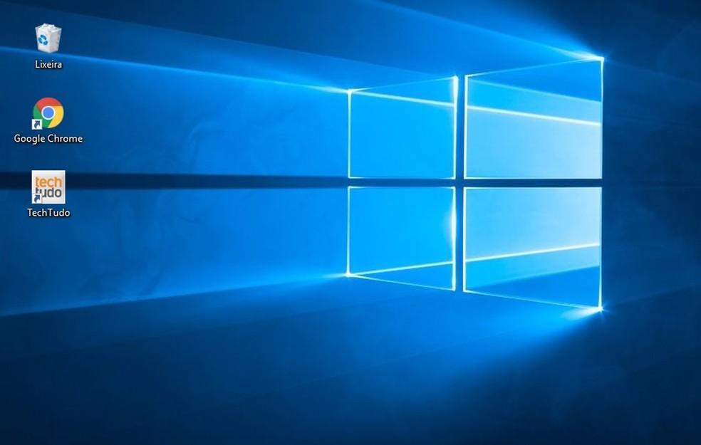 Deixe o desktop mais limpo possível — Foto: Reprodução/Rodrigo Fernandes