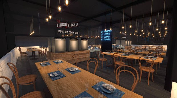The Finish Kitchen é ação promocional realizada no Chez Oscar (Foto: Divulgação)