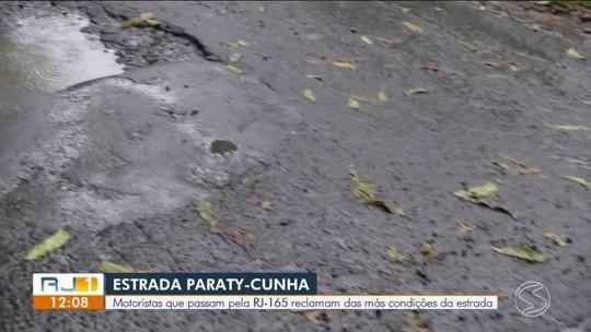 Motoristas que passam pela Paraty-Cunha reclamam das más condições da estrada