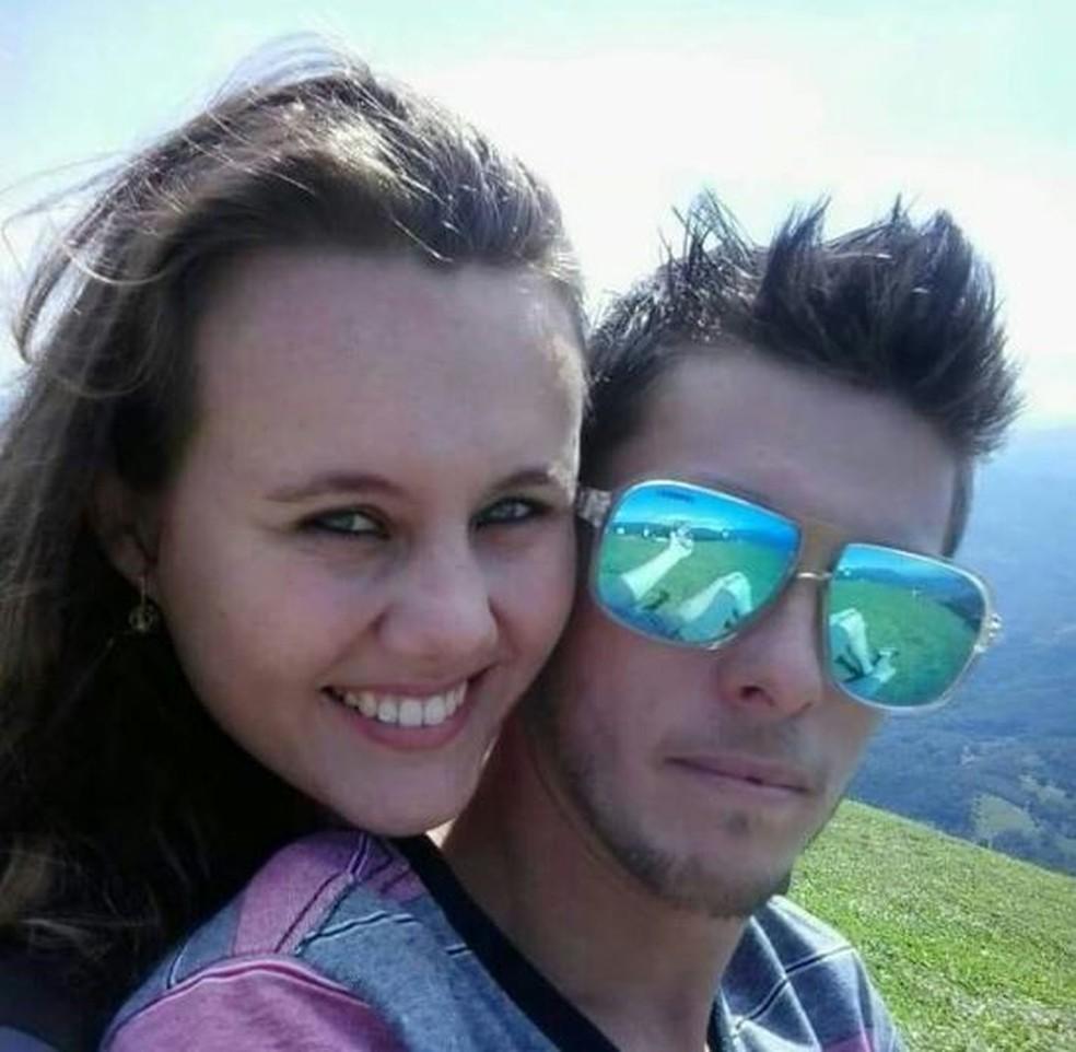 Bruna e Rodrigo quando se conheceram em 2013 (Foto: Bruna Harger/Arquivo Pessoal)