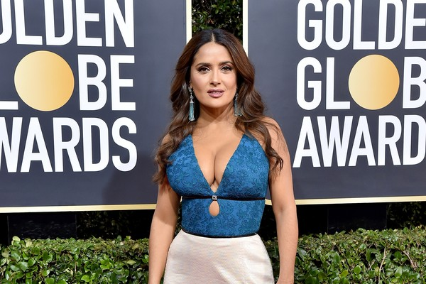 The stunning actress, Salma Hayek, and during his stay on the red carpet of the Golden Globe awards In the year 2020 (picture: Getty Images)