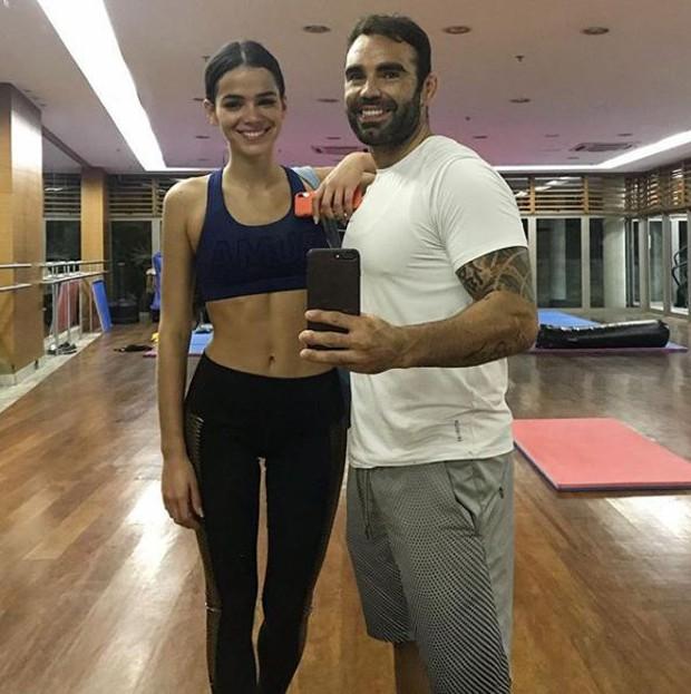 Bruna Marquezine e o personal trainer Chico Salgado (Foto: Reprodução/Instagram)