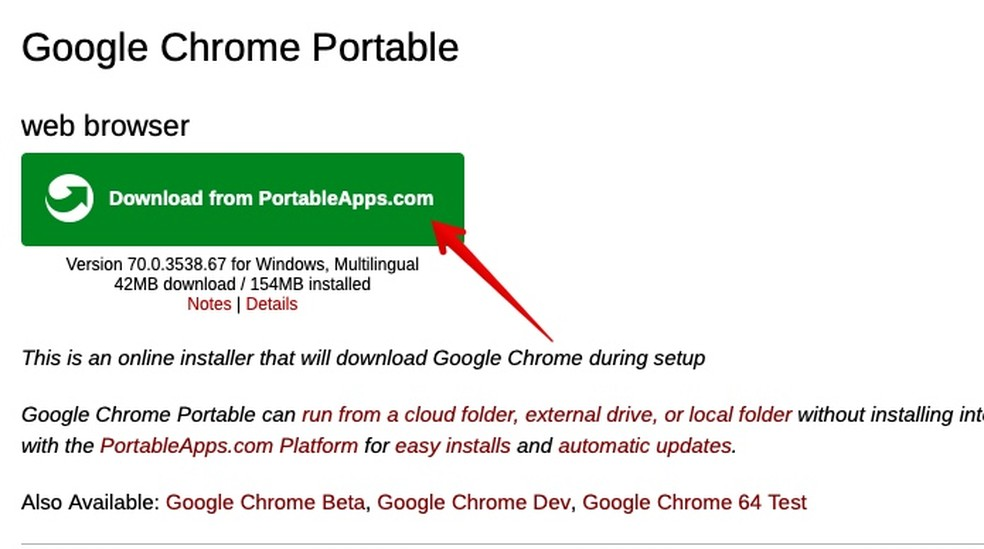Chrome Portable: como fazer download e instalar o navegador no pen