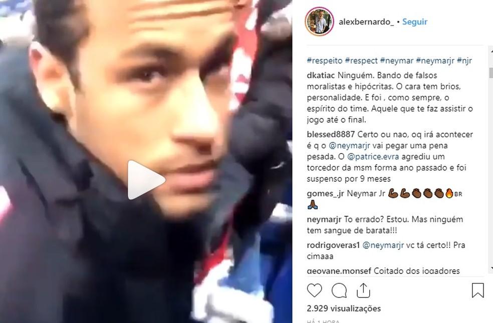Neymar, através do Instagram, desabafa após agressão — Foto: Reprodução