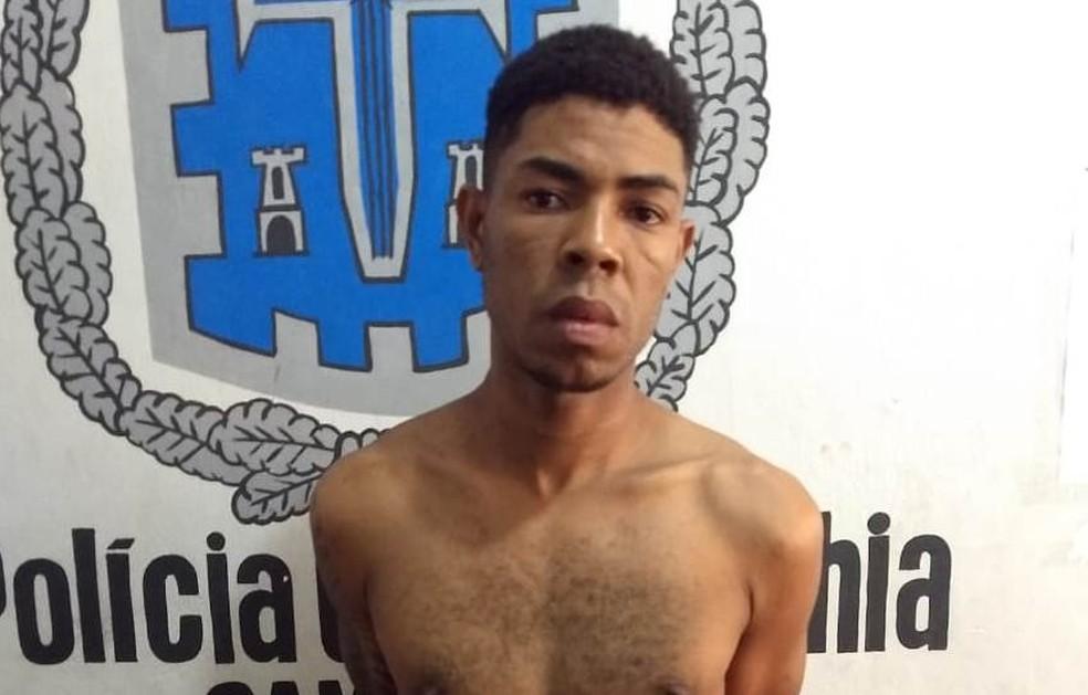 Homem é preso suspeito de assalto e ameaças a fazendeiros para receber parte de colheita na Bahia — Foto: Divulgação/PC