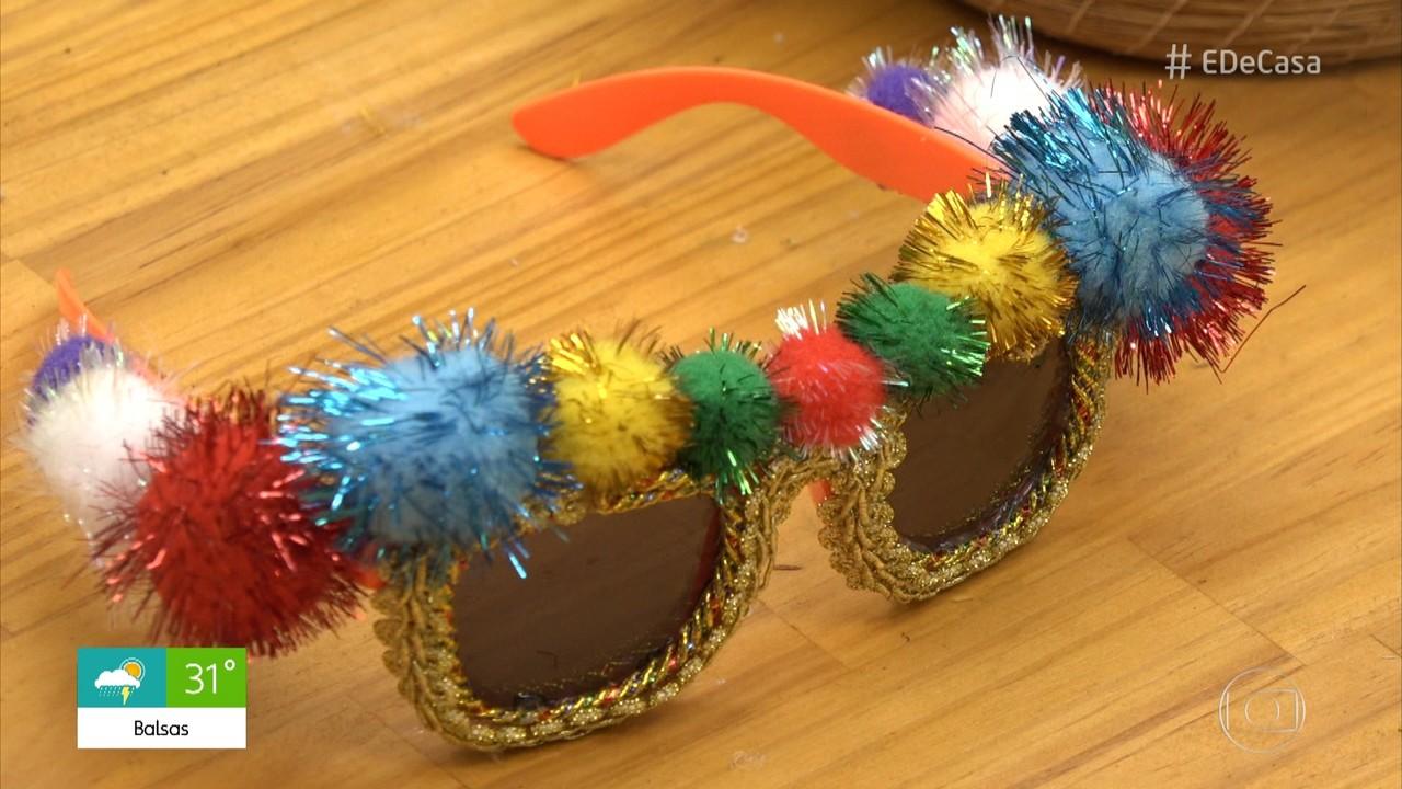 Aprenda a personalizar óculos escuros para o Carnaval